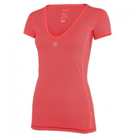 Tshirt manches courtes Corail col V La Tania Ceramiq
