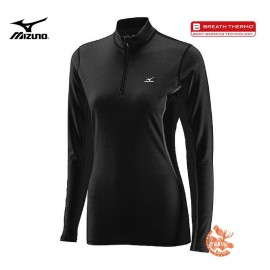 Mizuno Tshirt Manches Longues Midweight 1/2 zip Femme