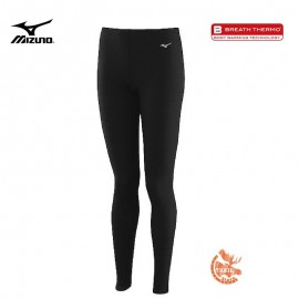 Mizuno Mid Weight Long Tights Noir Femme