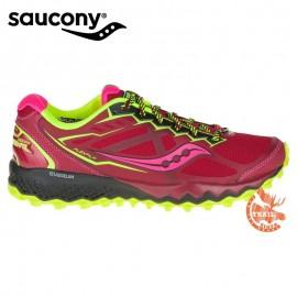 Saucony Peregrine 6 Rouge/Citron/Pink femme