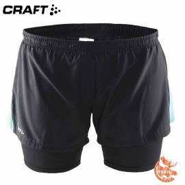 Craft - Joy 2 in 1 Shorts Women - noir et bleu