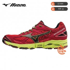 Mizuno Wave Mujin 2 Homme Chinese Red / Black / Safty Yellow