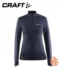 Craft Facile Embossed Halfzip gravel Femme