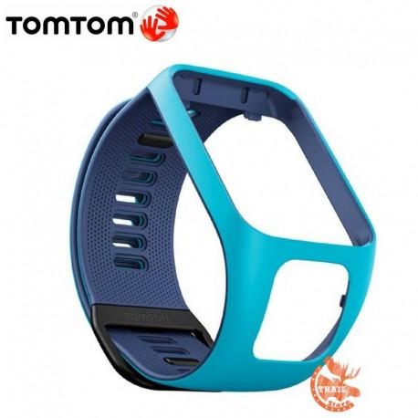 Bracelet de montre Tomtom Runner 3 marine et bleu