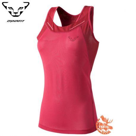 Dynafit Vertical Tank Tshirt Femme Coral Fluo