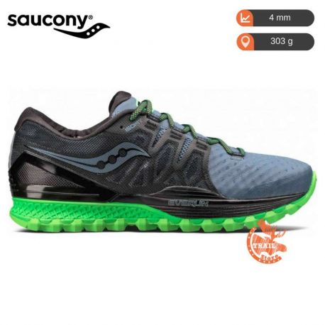 Saucony Xodus Iso 2 Gris Grey Black Slime