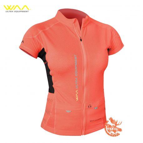 Ultra Carrier Shirt Manches Courtes Femme WAA corail