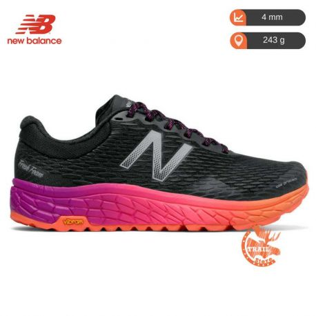New Balance Fresh Foam Hierro V2 Black Orange Femme noir orange rose
