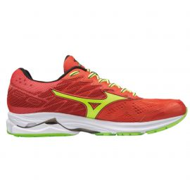 Mizuno Wave Rider 20 Grenadine Safety yellow Jasmine Green Homme