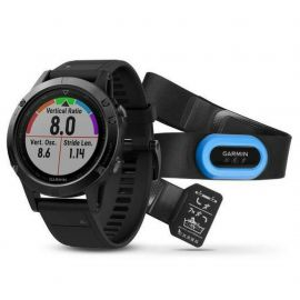 Garmin Fenix 5 Performer Bundle Sapphire Edition Black with Black Band