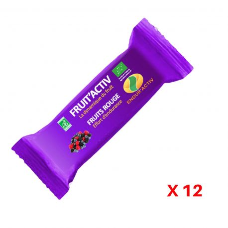 Barre Fruit Activ Fruits Rouges (pack x12) Endur'Activ