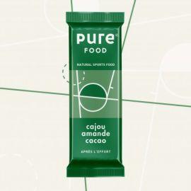 Pure Food Barre après effort cajou amande cacao