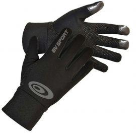 BV Sports Gants Tactiles Noir coupe vent imperméable
