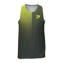 Scott Singlet RC RUN Black Yellow Homme