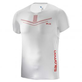 Salomon S-Lab Sense Tee Trail Running Manches courtes White Racing Red Homme