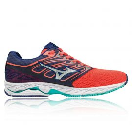 Mizuno Wave Shadow Navy Blue Orange Femme