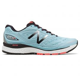 New Balance 880 V7 Clear Sky with Black & Vivid Coral Femme