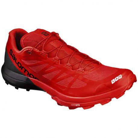 Salomon S/LAB Shoes Sense 6 SG Racing Red Black White