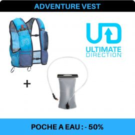 Adventure Vest 4.0 Ultimate Direction + Poche à eau UD 1,5 litre