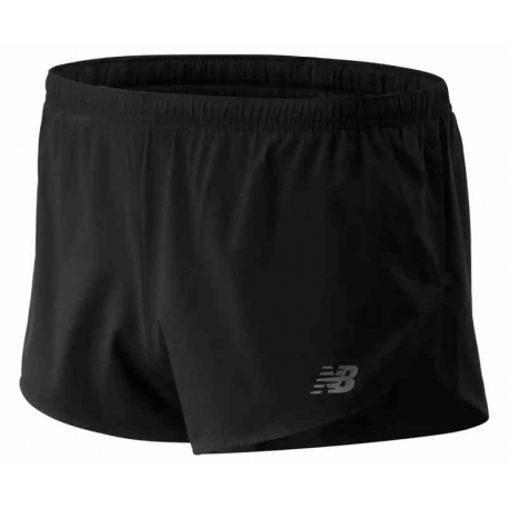 New Balance Short Accelerate 3 Inch Split BLack Homme