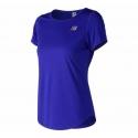 New Balance Printed Accelerate Short Sleeve V2 UV Blue Femme