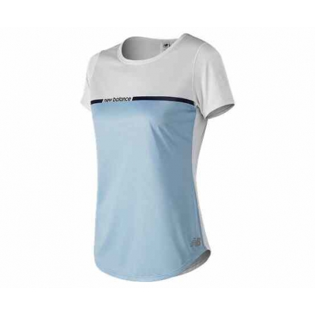 New Balance Printed Accelerate Short Sleeve v2 Femme