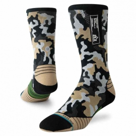 Stance Run Smoked Camo Crew Homme