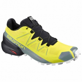 Salomon Speedcross 5 Sulphur Spring Black White Homme