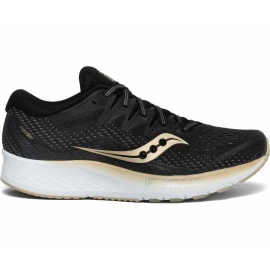 Saucony Ride ISO 2 Black Gold Femme
