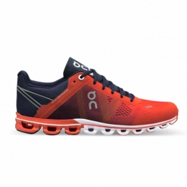 On Running Cloudflow Crimson Midnight Femme
