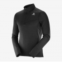Salomon Grid HZ Mid Zip Tshirt Black Homme