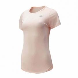 New Balance Printed Accelerate Short Sleeve V2 UV Rose Femme