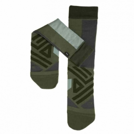 On Running High Sock Forest Moss Homme
