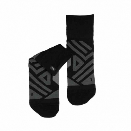 On Running Mid Sock Black Shadow Homme