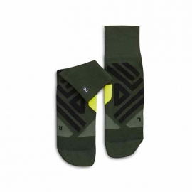 On Running Mid Sock Jungle Lime Homme