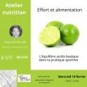 Atelier Nutrition sur l''équilibre acido-basique dans la pratique sportive