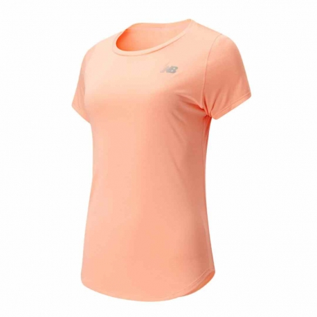 New Balance Accelerate Short Sleeve V2 Ginger Pink Femme