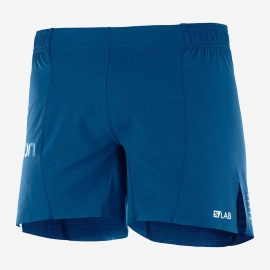 Salomon S/Lab Running Short 6 Poseidon Homme
