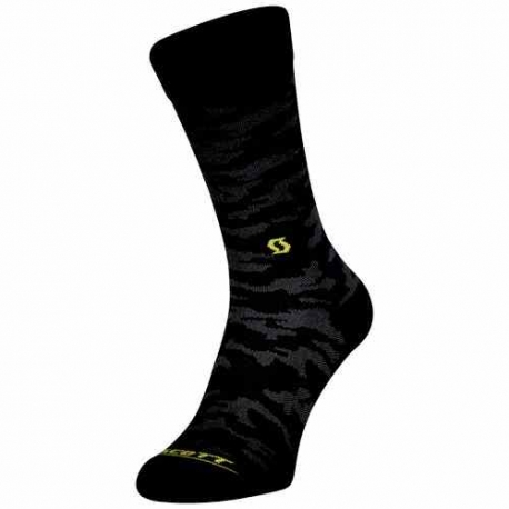 Scott Sock Trail Camo Crew black sulphur