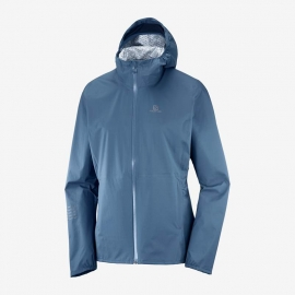 Salomon Veste Lightning Waterproof Jacket Dark Denim Femme