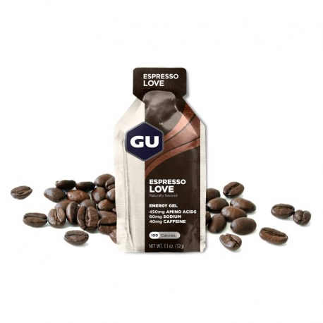 GU Gel Energy Espresso Love Café dietétique running