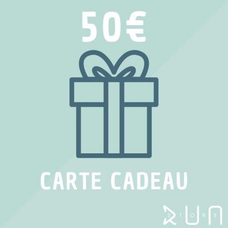 Carte Cadeau 50 € runstore bordeaux