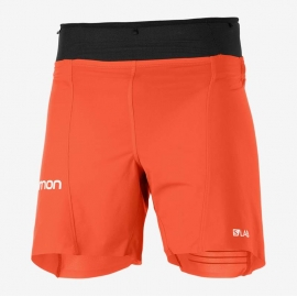 Salomon S/LAB Sense Short 6 pouces Red Black Homme