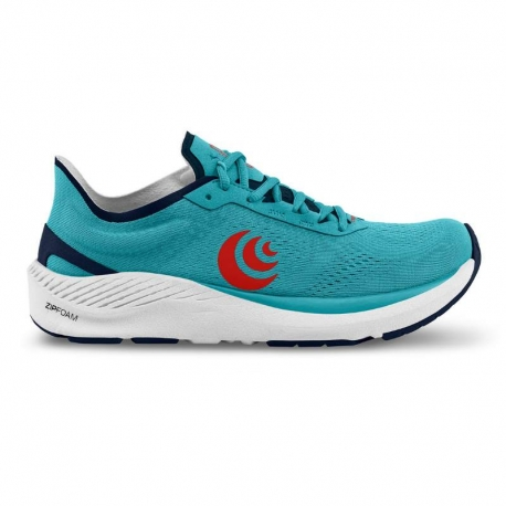 Topo Athletic Cyclone Cyan Red Homme
