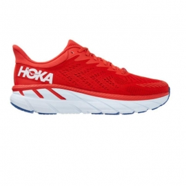 Hoka Clifton 7 Rouge Blanc Homme
