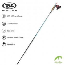TSL Outdoor Bâtons Marche nordique Tactil 70 spike