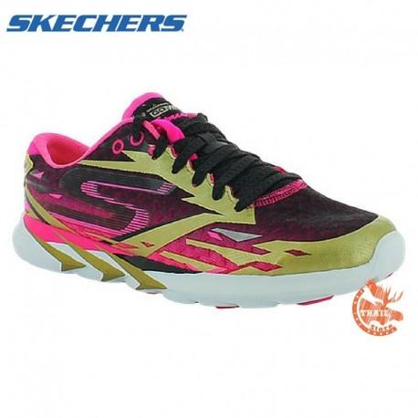 Skechers - Gomeb Speed 3 - Gold/Hot pink femme