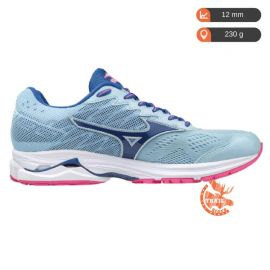 Mizuno Wave Rider 20 Angel Falls True Blue Electric Femme bleu clair