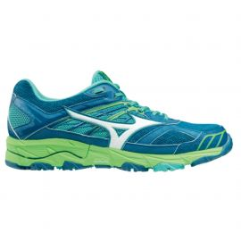 Mizuno Wave Mujin 4 Blue Sapphire White Turquoise Femme