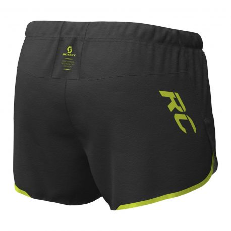 Scott Split Shorts RC RUN black yellow Homme